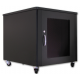 12U Silent Server Cabinet for AV, Small Office/SOHO - Black