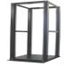 25U Adjustable Depth 4 Post Open Frame Server Rack - Beige Color