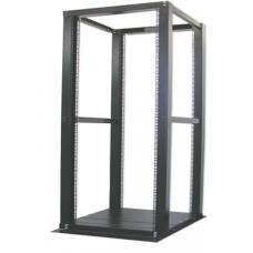 42U Adjustable 4-Posts Open Frame Server Rack - Beige Color