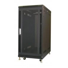 25U Knock-Down Server Rack Cabinet with Casters - Mesh Door