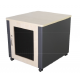 12U Silent Server Cabinet for AV, Small Office/SOHO - Beech